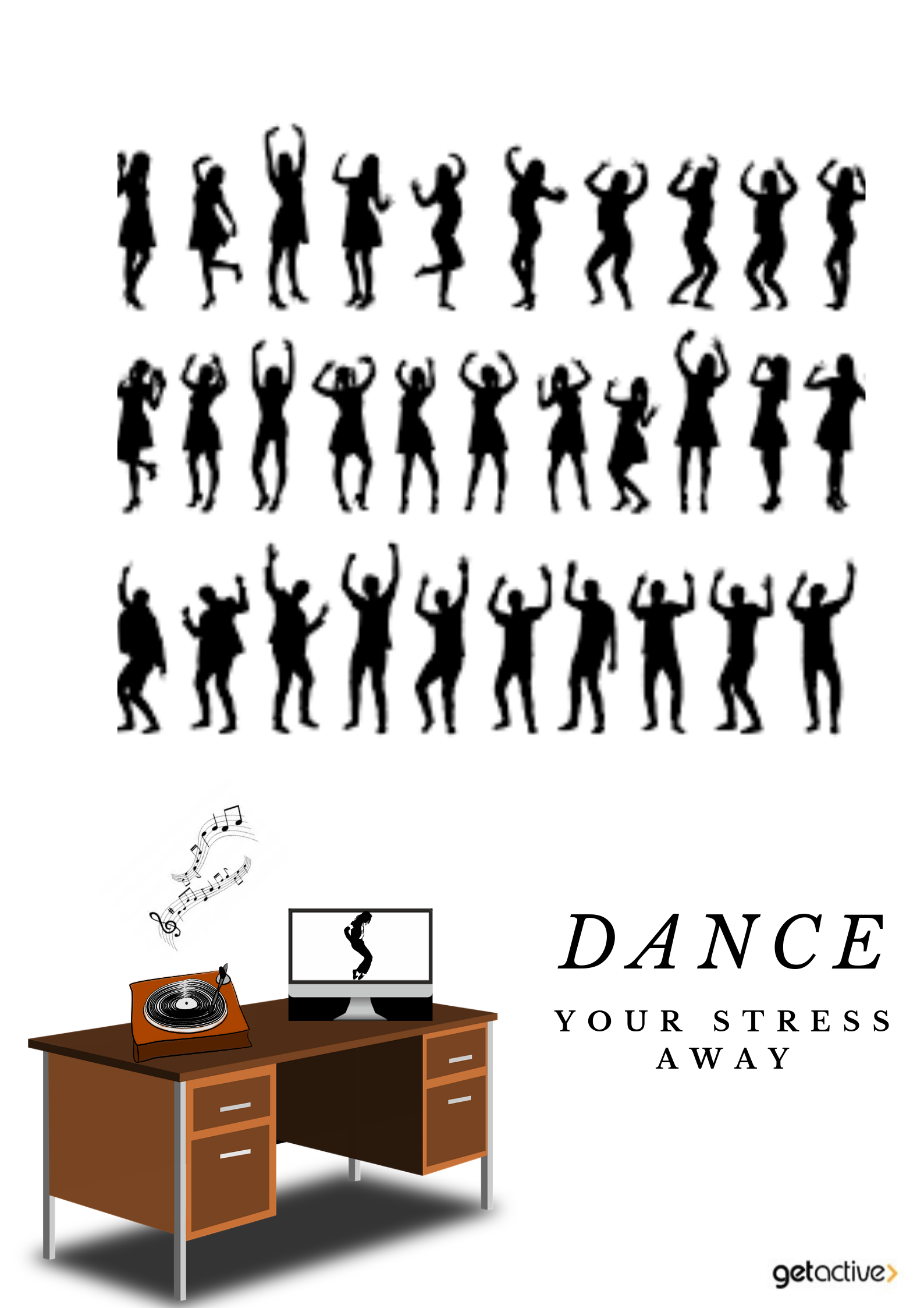 Push away work stress with flash mob dance songs