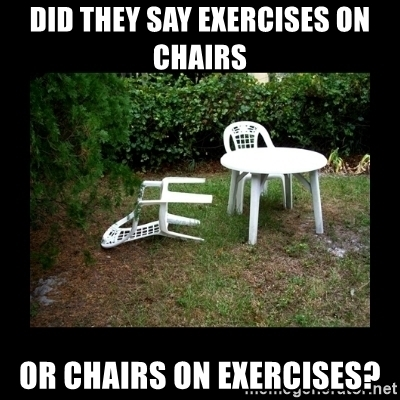 Chair exercises at office